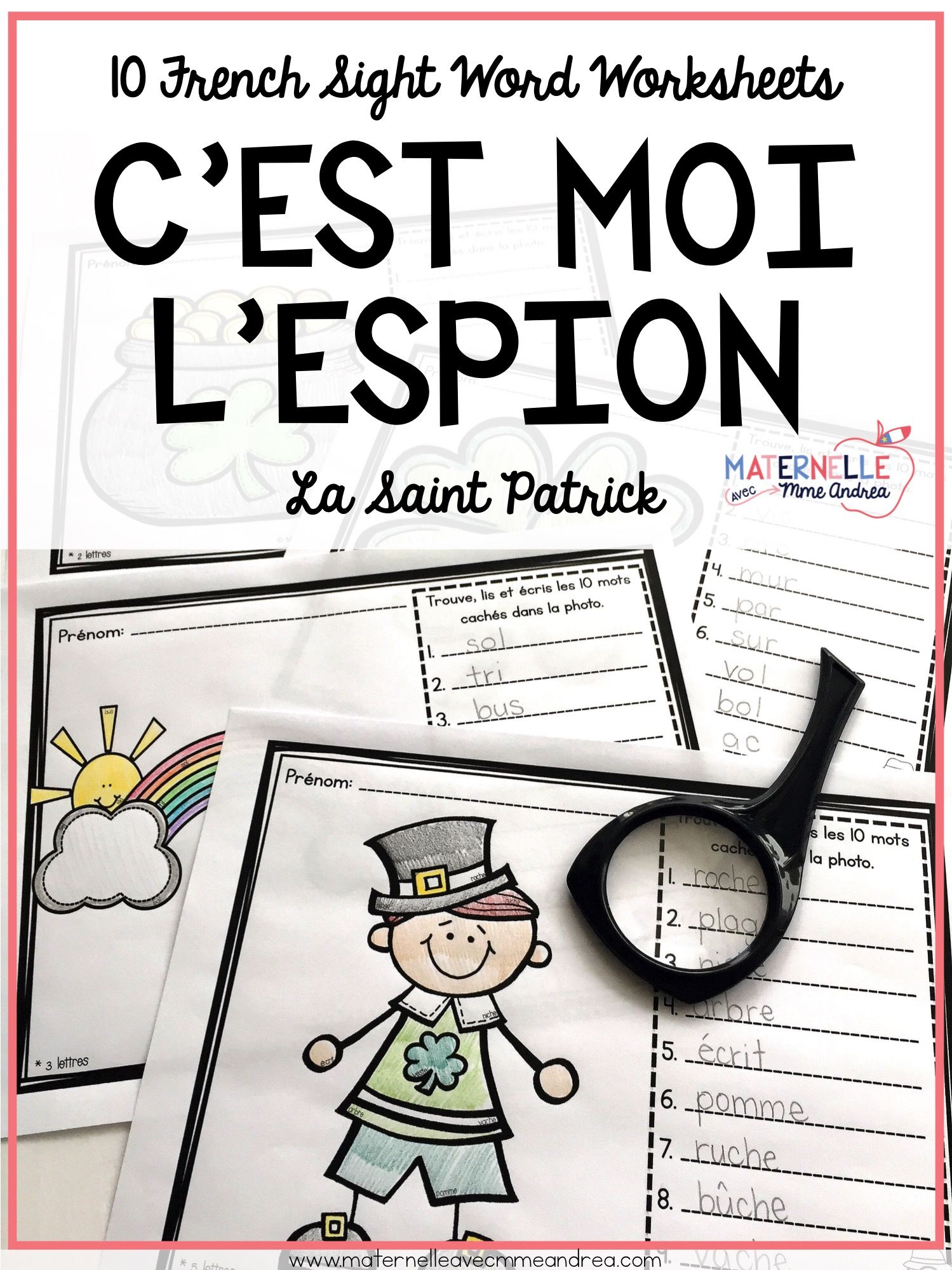 French Saint Patrick S Day Decoding Practice Worksheets