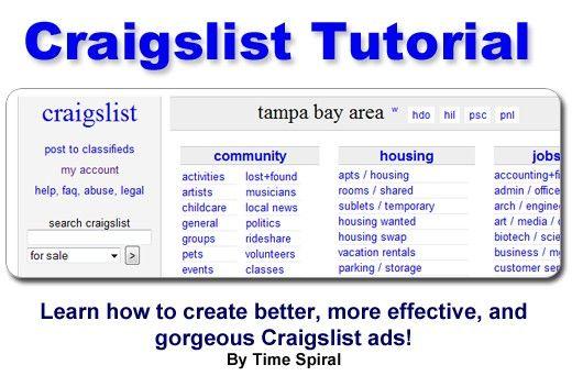 How To Write An Effective Craigslist Ad Create Ads Craigslist Ads