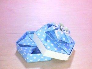 Origami box hexagon with flower cute pinterest origami boxes origami box hexagon with flower envelope mightylinksfo