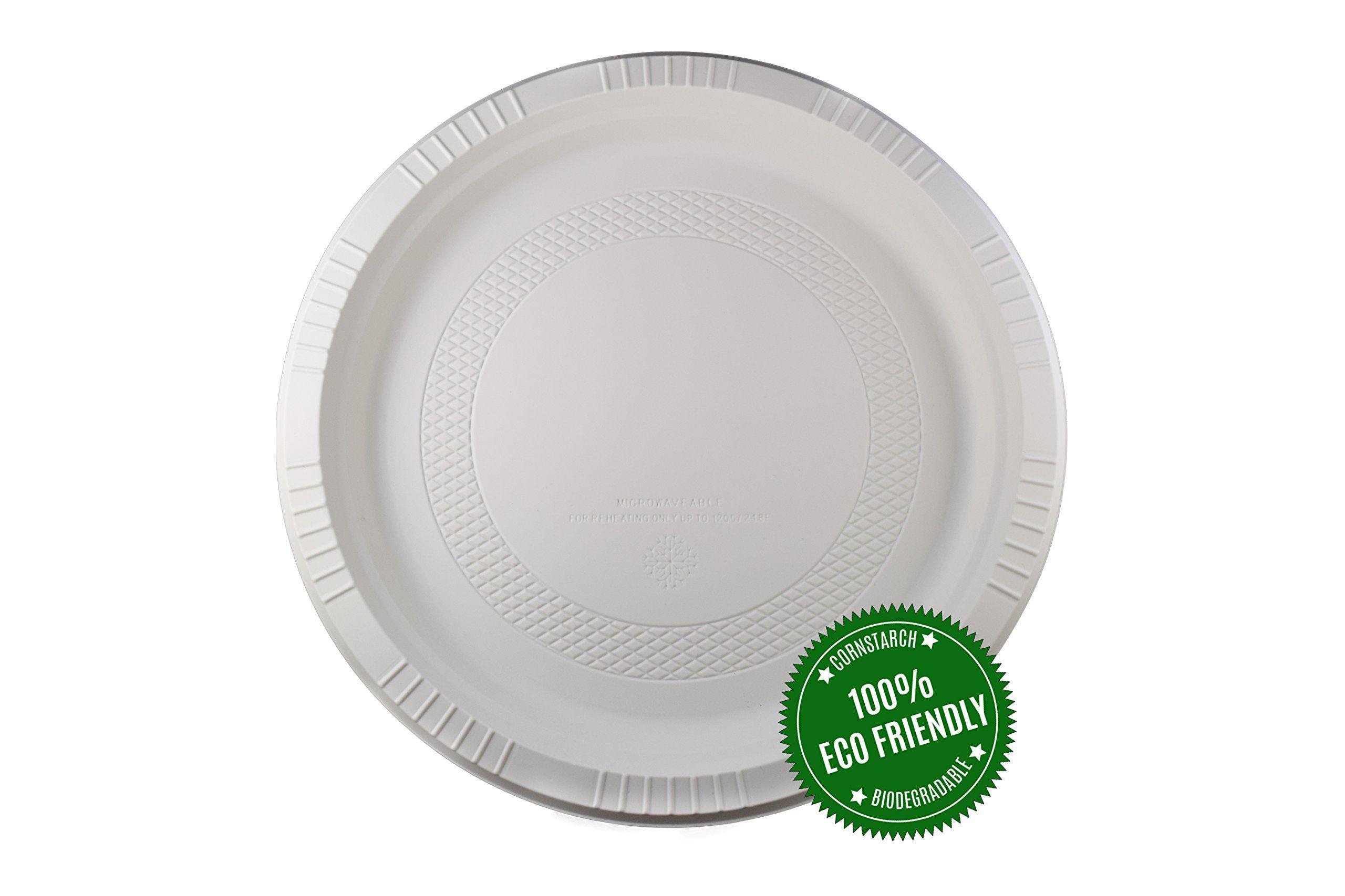 HeloGreen 9\  Plate (250 Count 1 Compartment) Eco-Friendly Biodegradable Cornstarch  sc 1 st  Pinterest & HeloGreen 9\