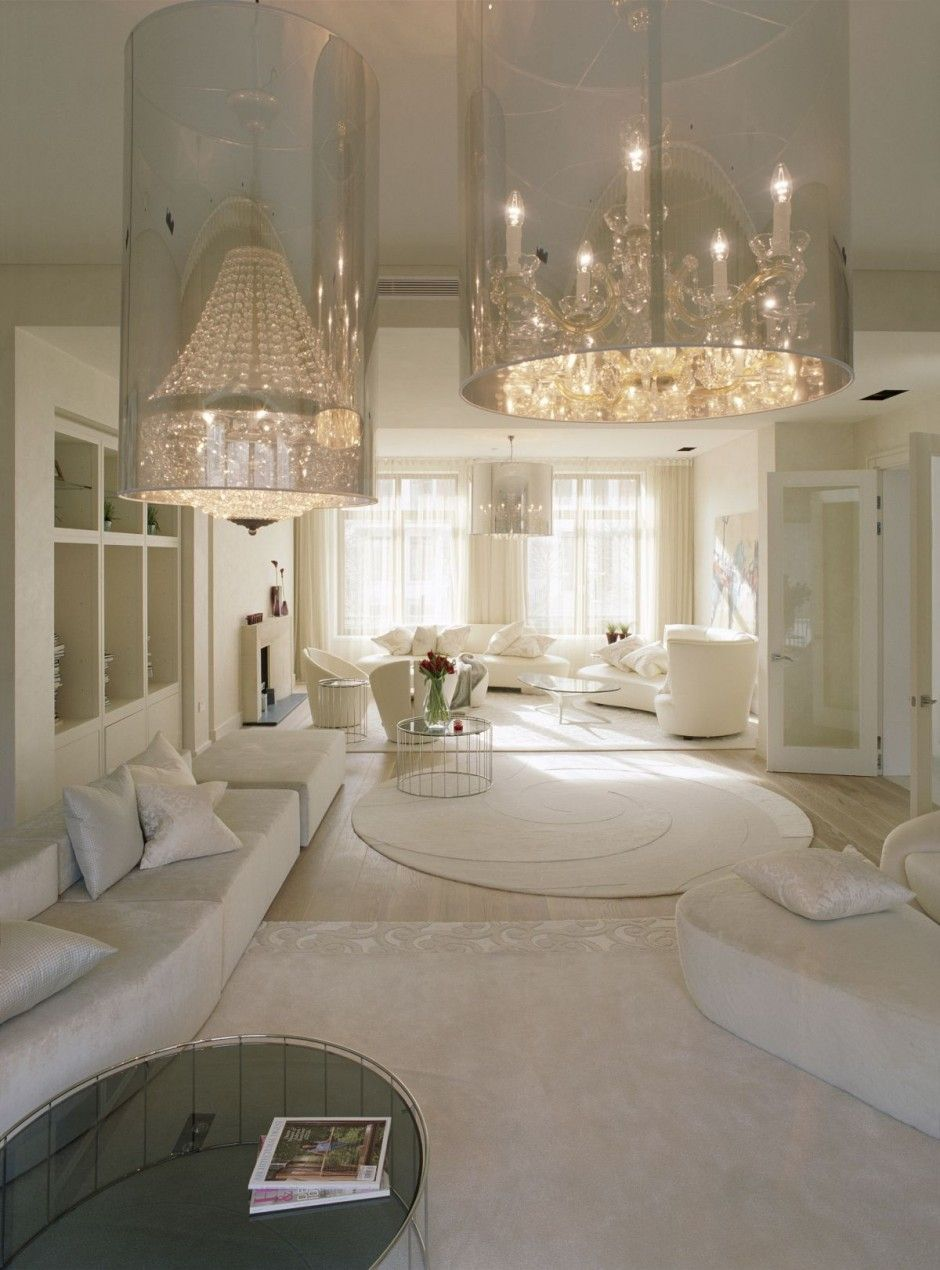 White Family Home Interior Designs, Funky And Stylish ...