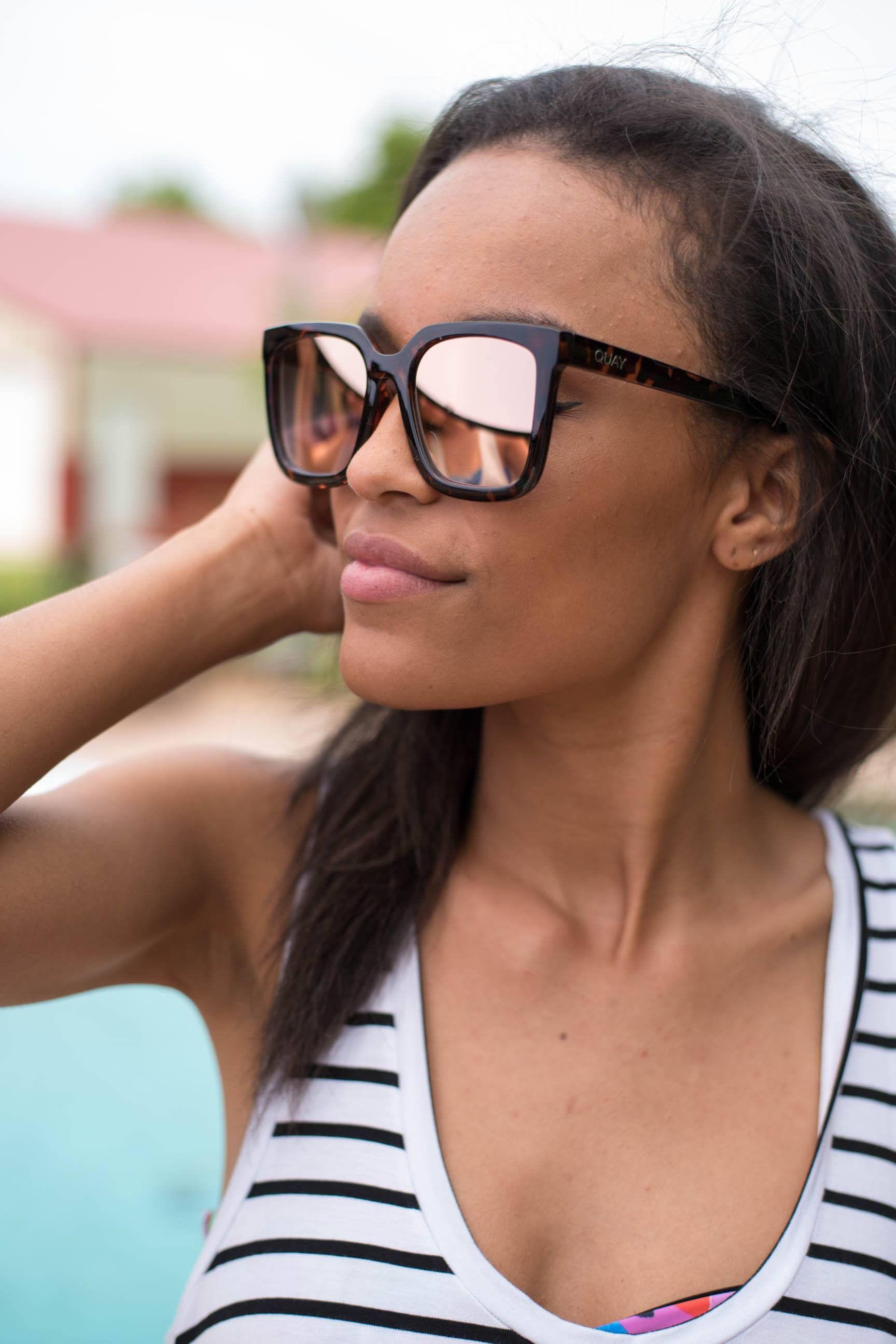 37f2f026b5d Quay Genesis sunglasses tort rose mirror from Lush Fashion Lounge ...