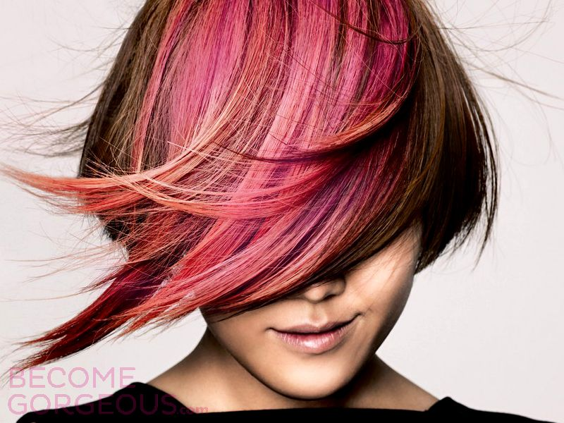 I Just Cannot Keep My Eyes Off Pink Hair Pink Highlights Shorter