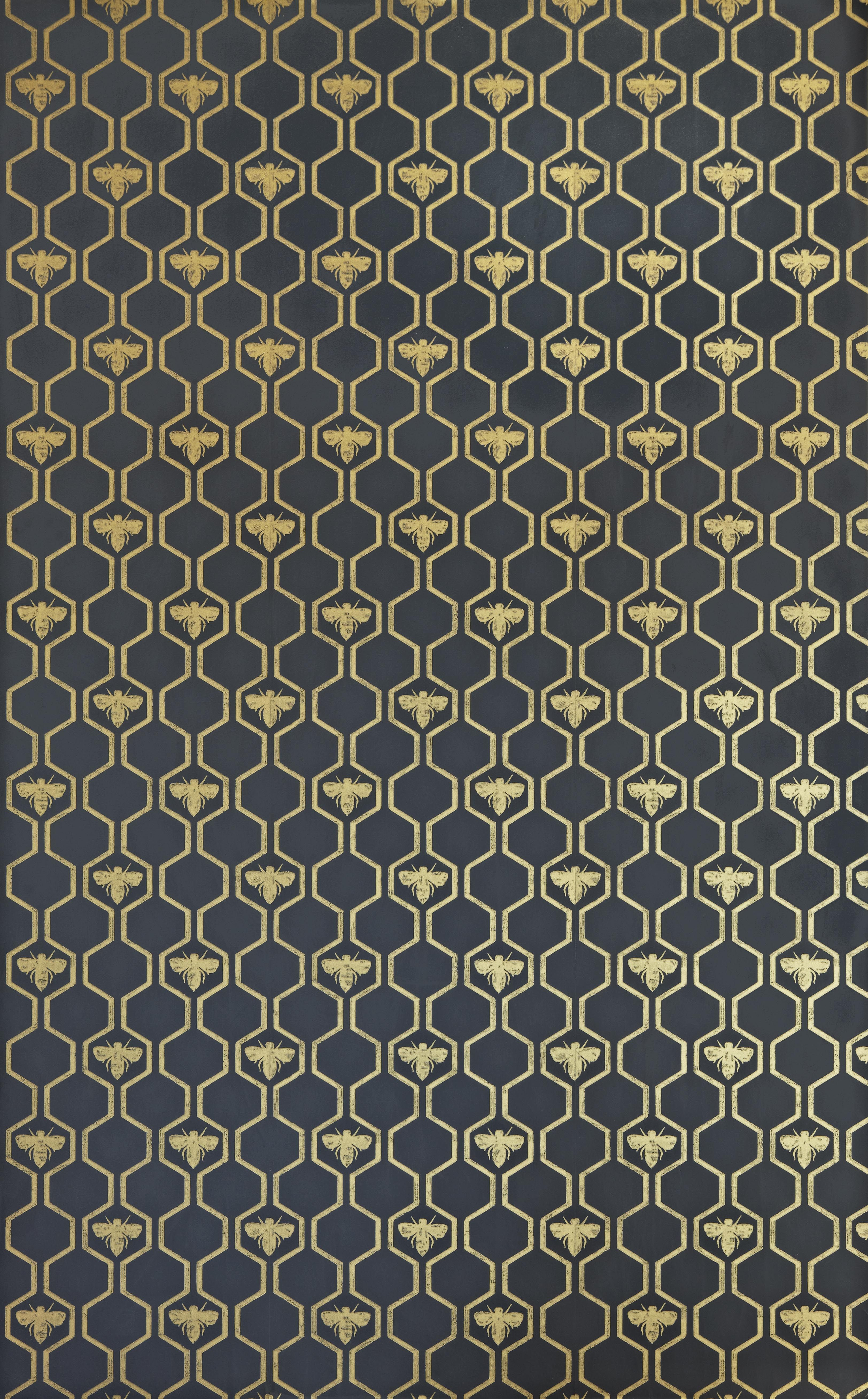 Honey Bees Wallpaper from Barneby Gates Charcoal
