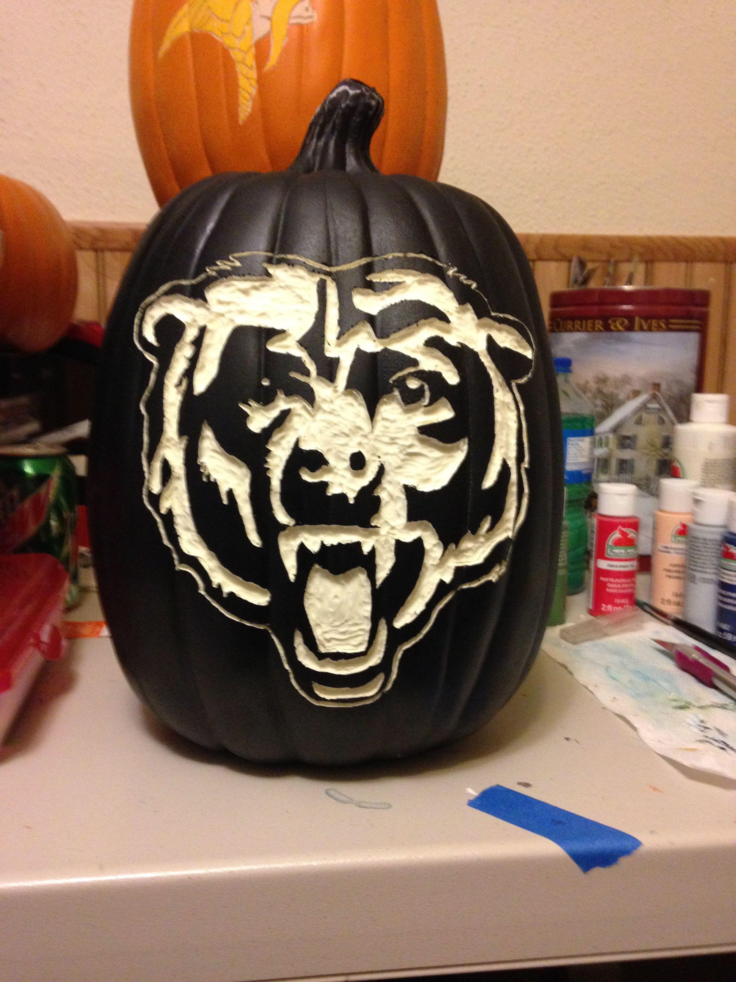 Chicago Bears Pumpkin carving, Fake pumpkins, Carving