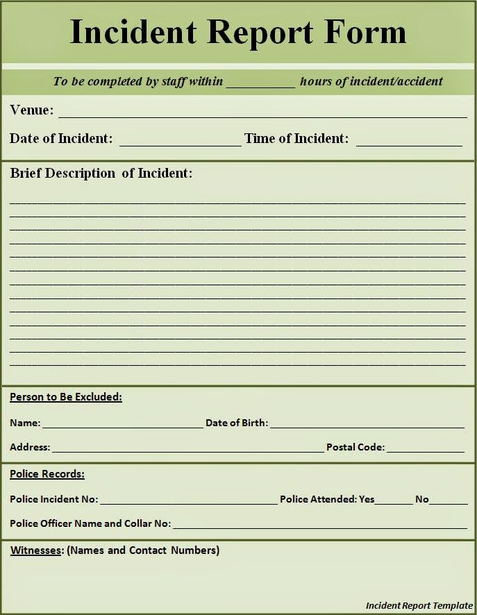 the pen and ink blog december fire incident report form immix - sales call report template