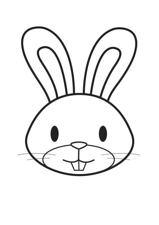 Coloring Page Rabbit Head Lavoretti Per Bambini Per Pasqua