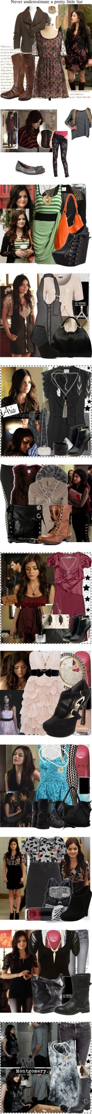 """""""Aria Montgomery"""" by sjjh ❤ liked on Polyvore by alejandra"""