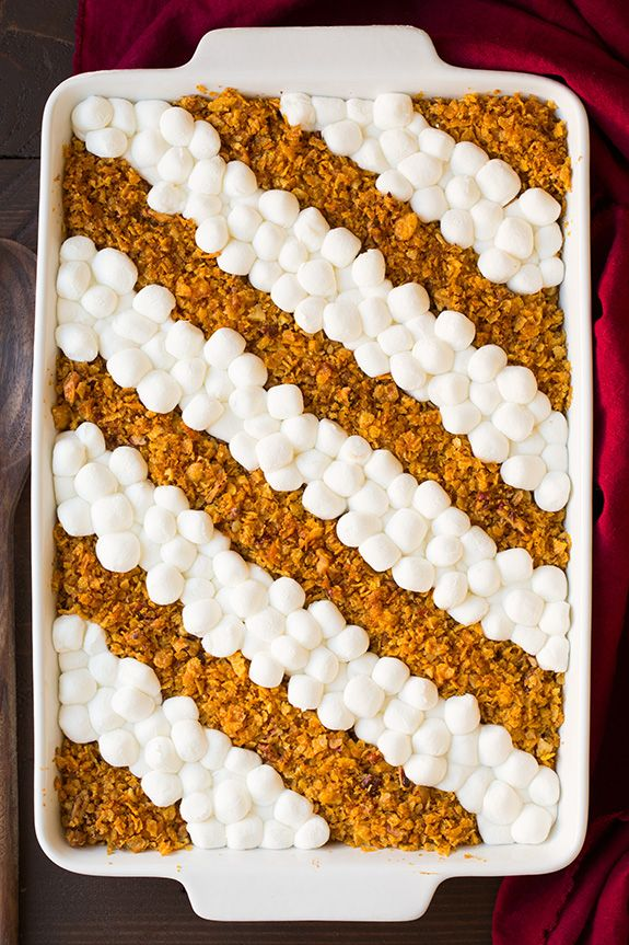 Browned Butter Sweet Potato Casserole - Cooking Classy