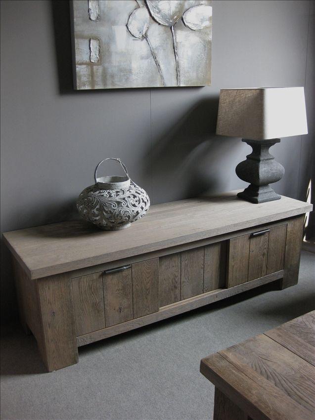 Design Tv Meubel Tweedehands.Tv Dressoir Eiken Rustiek Furniture Home Decor Home Accessories