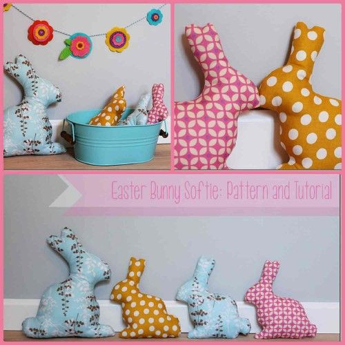 The Crafty Cupboard: Bunny softies tutorial. Nx