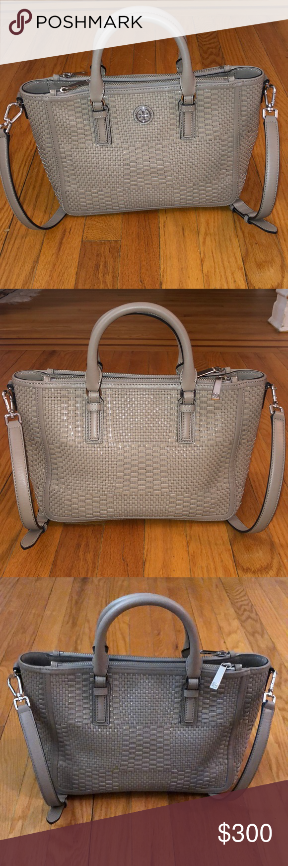 54bee4809 Robinson Square Brown Pebbled Leather Tote | Tory Burch Multi Tote