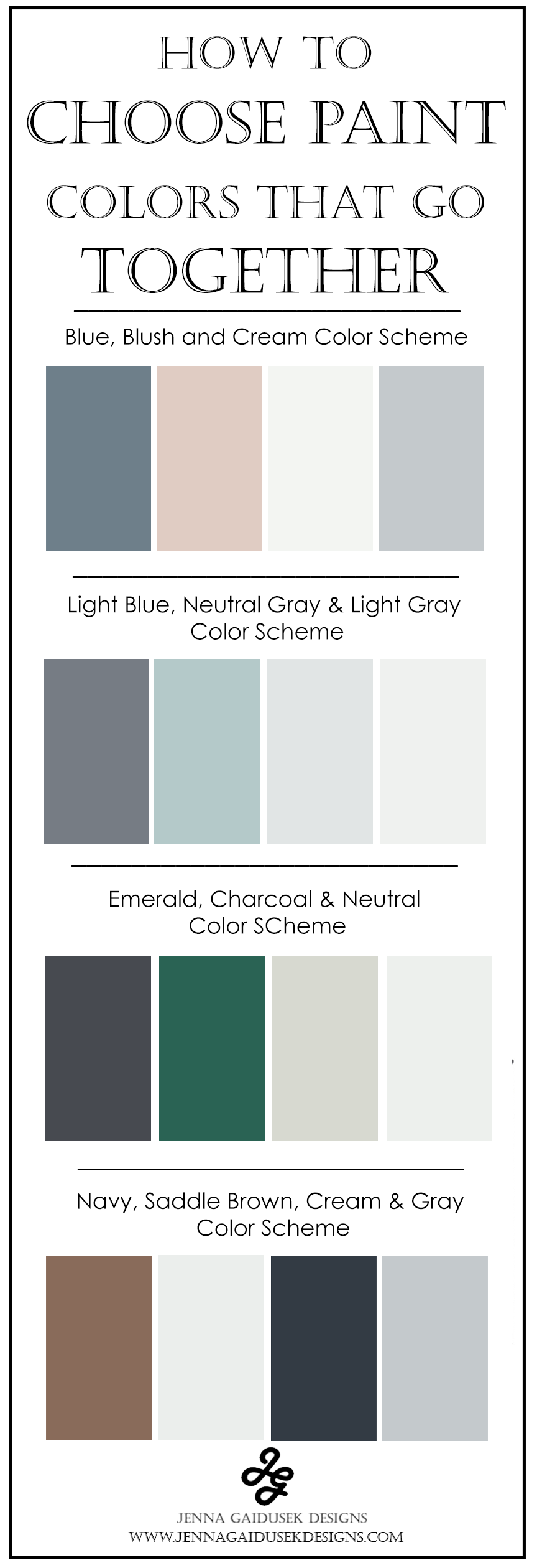 How to Choose Paint Colors That Go Together — Jenna Gaidusek Designs