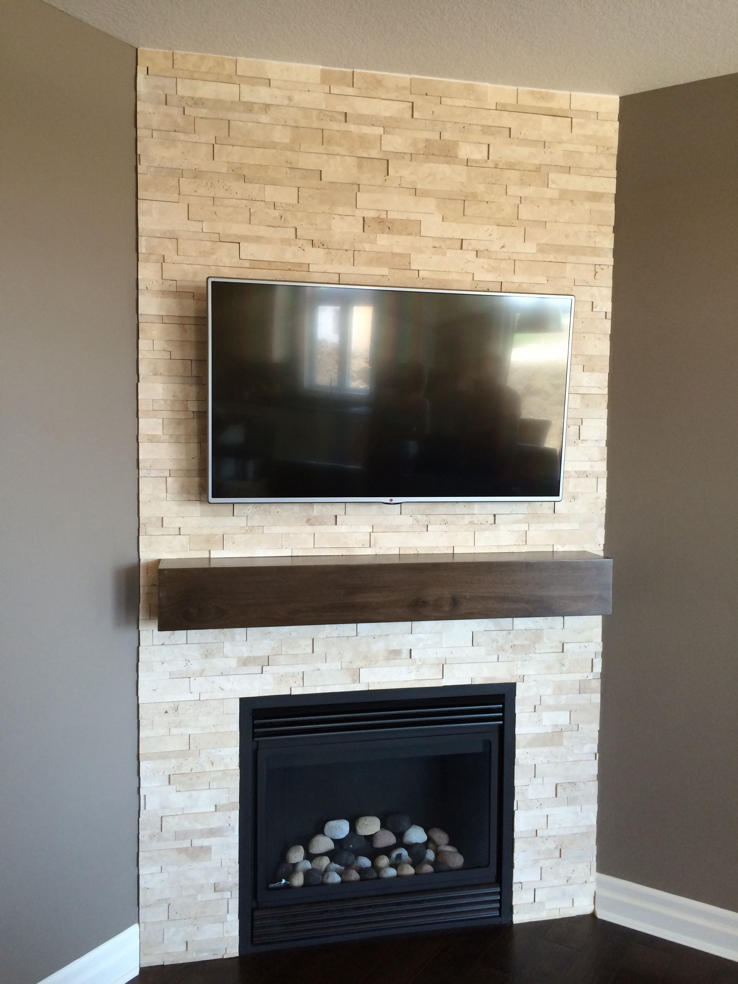 Family room corner fireplace with tv Fireplace Pinterest