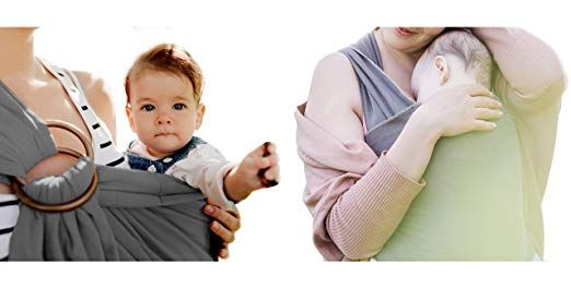 b80f36deaed Baby Sling and wrap Carrier + Gift ebook. By Amby.  Wear  Your Baby ...