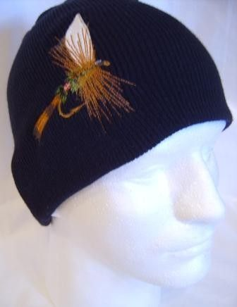 Royal Coachman Fishing Fly Lure Beanie Skullcap Hat Fisherman Tackle ... f9bbeff0e097