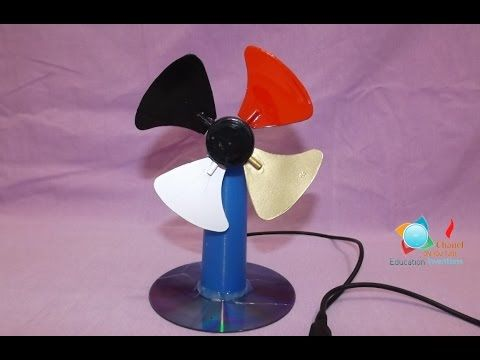 How to Make an USB Fan ? - new design - YouTube