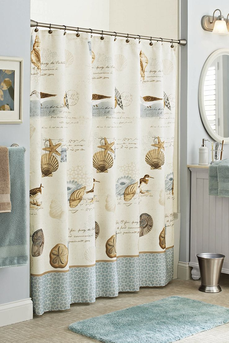 38199c09d082fd4fdced7715e13c3c93 - Better Homes And Gardens Shells Shower Curtain