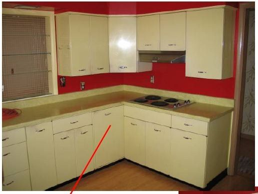 Before And After This Renovated Ranch Kitchen Beautifully Blends Rustic With Modern: Metal Kitchen Cabinets How To Paint