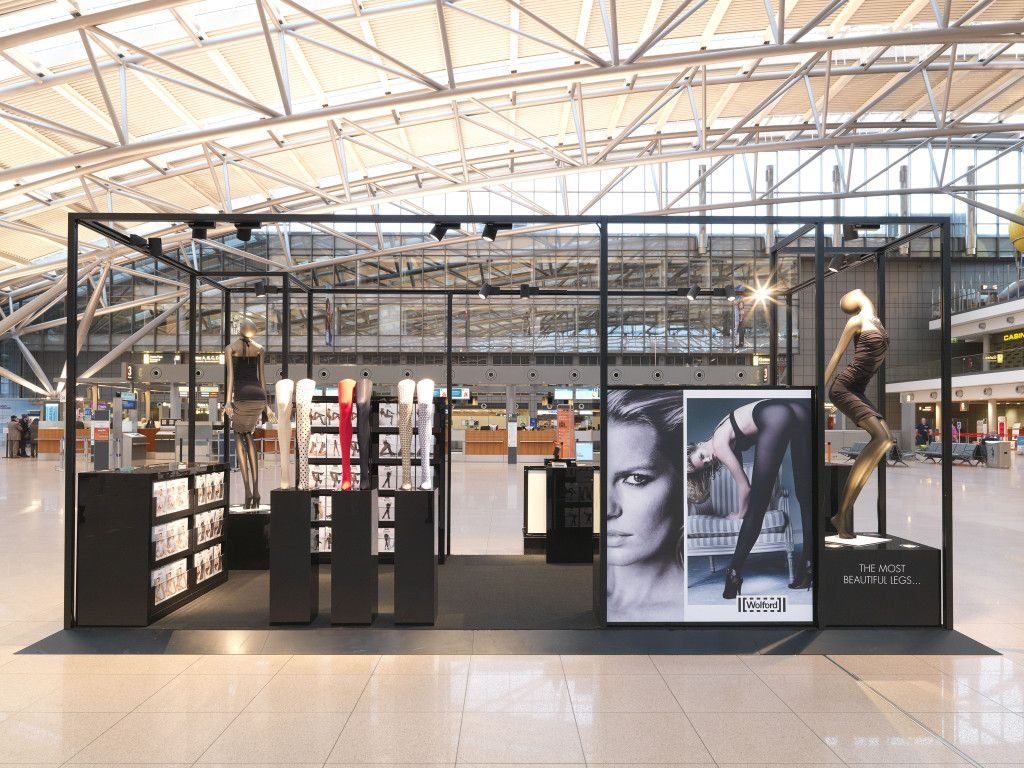 wolford pop up store hamburg airport simple and open. Black Bedroom Furniture Sets. Home Design Ideas