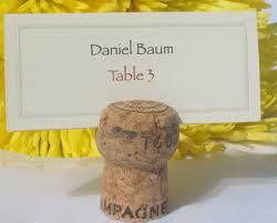 Champagne Cork Place Card Holders Google Search Flowers And