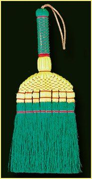 Sweep Dreams 13 Hand Whisk Yellow Aqua Sweeping Broom Deep Colors House Supplies