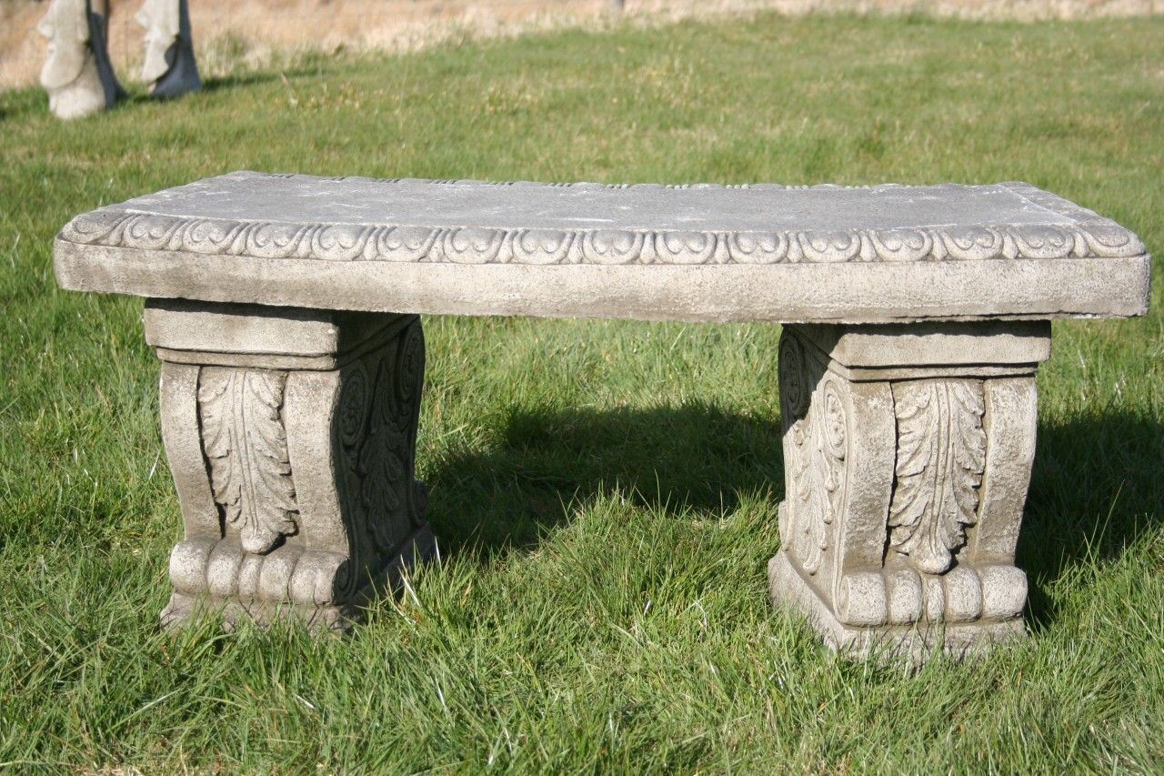 Discount Garden Statues   Heavy And Solid Superb Stone Cast Garden Bench,  £115.00 (