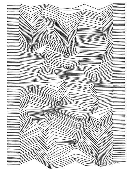 Line Art Illusion : Step by directions drawing with lines ideas