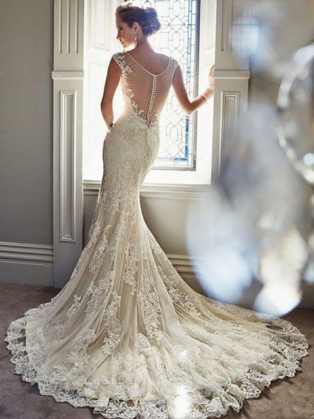 vestidos de novia espaldas x la tarde - Buscar con Google | Boda ...