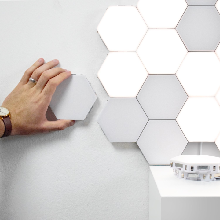 Aliving Touch Sensitive Modular Led Hexagonal Wall Lamps Buy Now Aliving Light Panels Hexagon Motion Lights