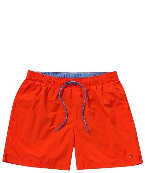 Tommy Hilfiger: Herren Badeshorts 'Solid Swim Trunk', orange von Tommy Hilfiger
