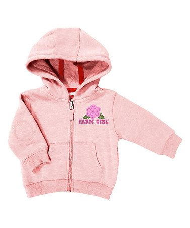 Loving this Baby Pink 'Farm Girl' Hoodie - Infant on #zulily! #zulilyfinds