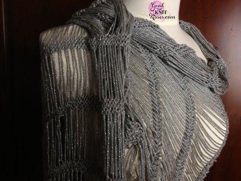 Dew Drop Shawl Loom Along Pattern On The Allnone Loom Knitting