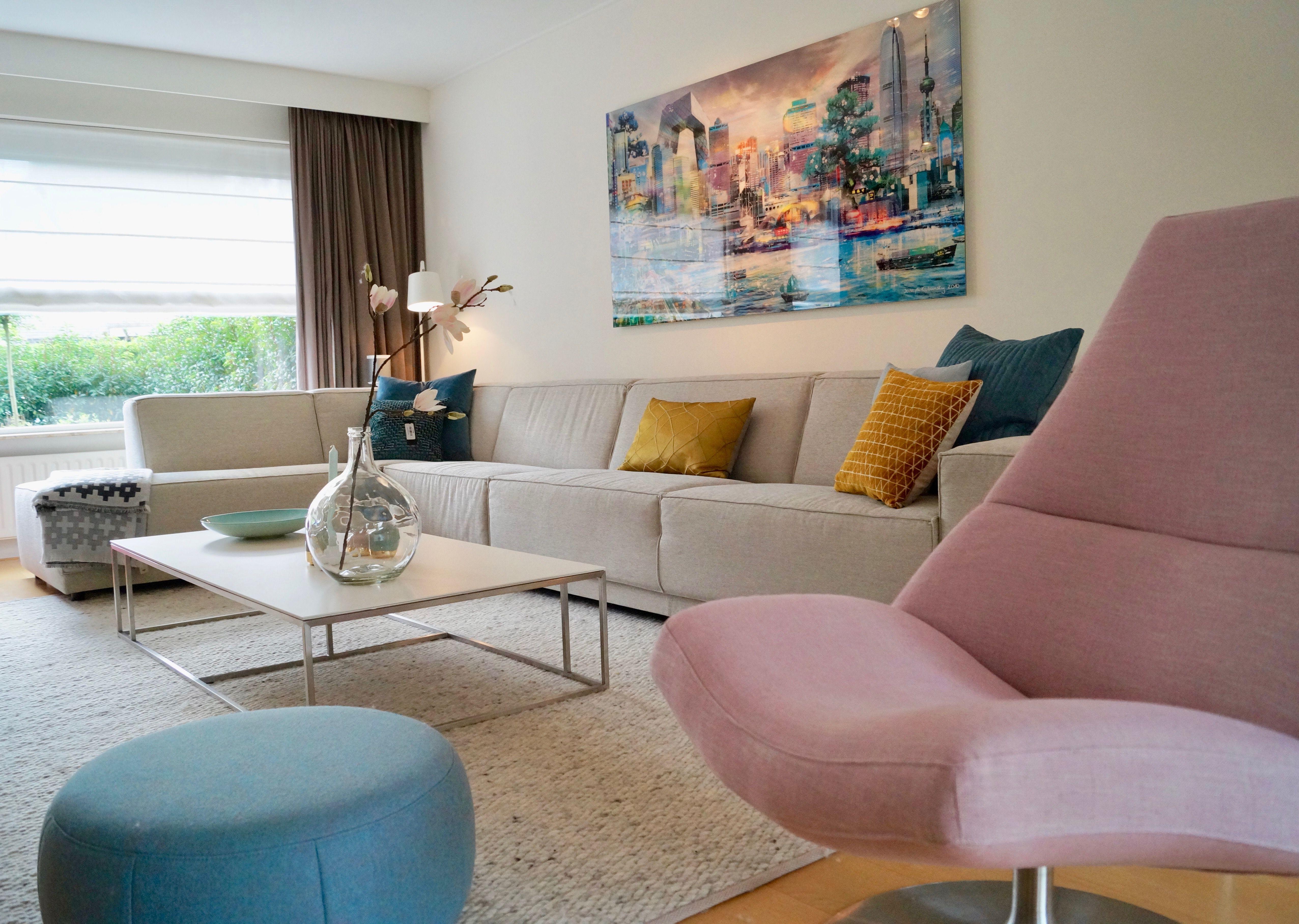 FLOW | restyling van woonkamer. het schilderij was de basis van het ...