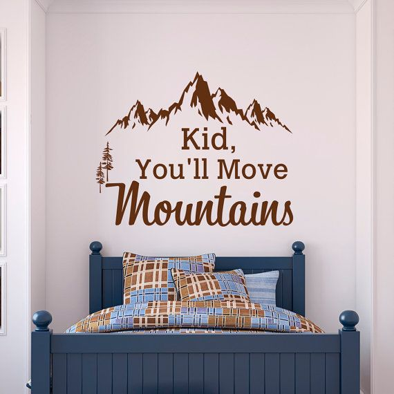 Mountain Wall Decal Dr Seuss Quote Kid Youll Move Mountains Kids - Dr seuss nursery wall decals