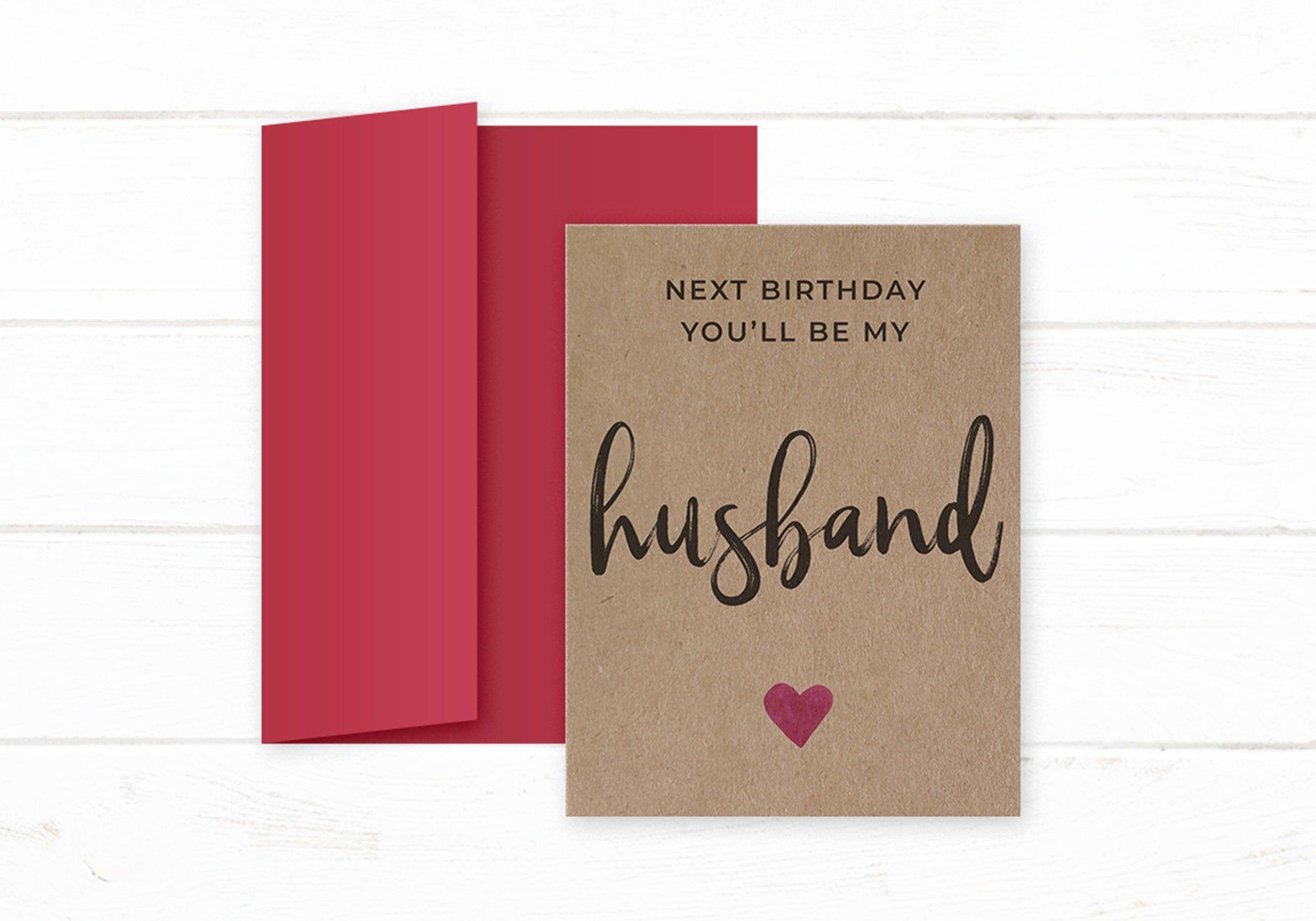 Fiance Birthday Card Next Birthday You Ll Be My Husband Etsy Fiance Birthday Card Fiance Birthday Birthday Cards
