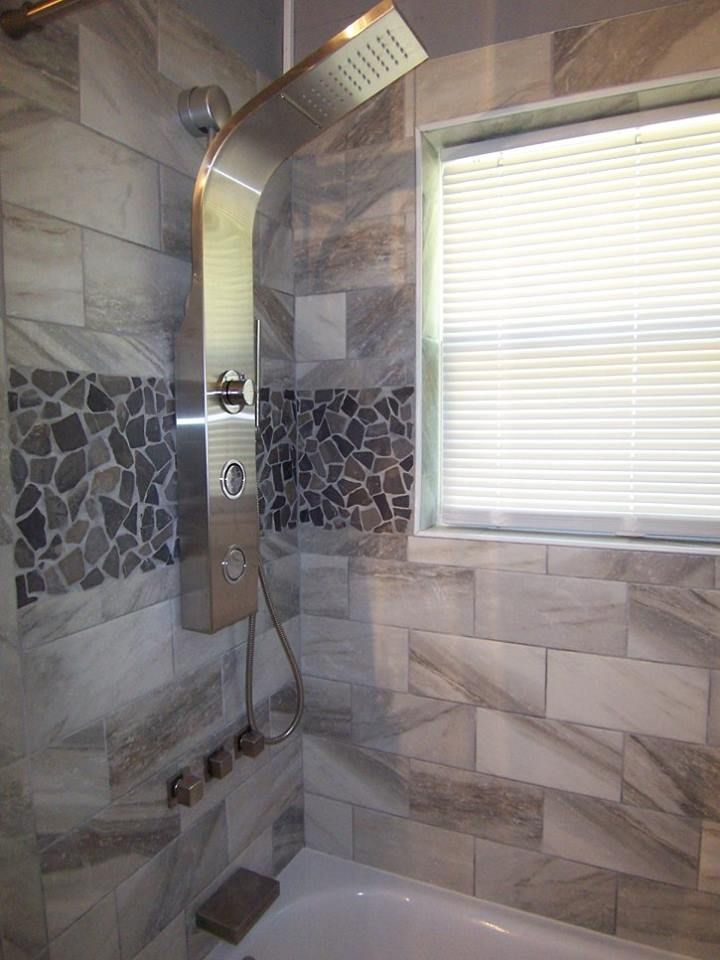 Grey Mosaic Tile Bathroom Mosaic Shower Tile Stone