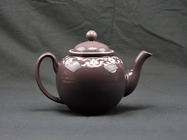 Vintage Purple Teapot Jaliang Designed Scroll Relief Ceramic Tea Pot Kitchen Decoration Floral Shoulder Large Handle Microwave Safe With Images Tea Pots Ceramic Teapots Design Vintage Baskets