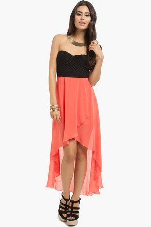 I love this dress!! Cirrus Hi-Low Dress $58 at www.tobi.com