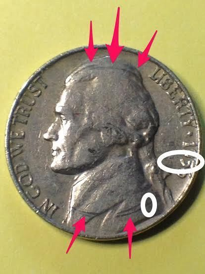 1956 Jefferson Nickel Error Coin