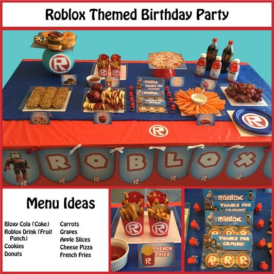 Roblox Themed Party Supplies | kids | 10th birthday ...