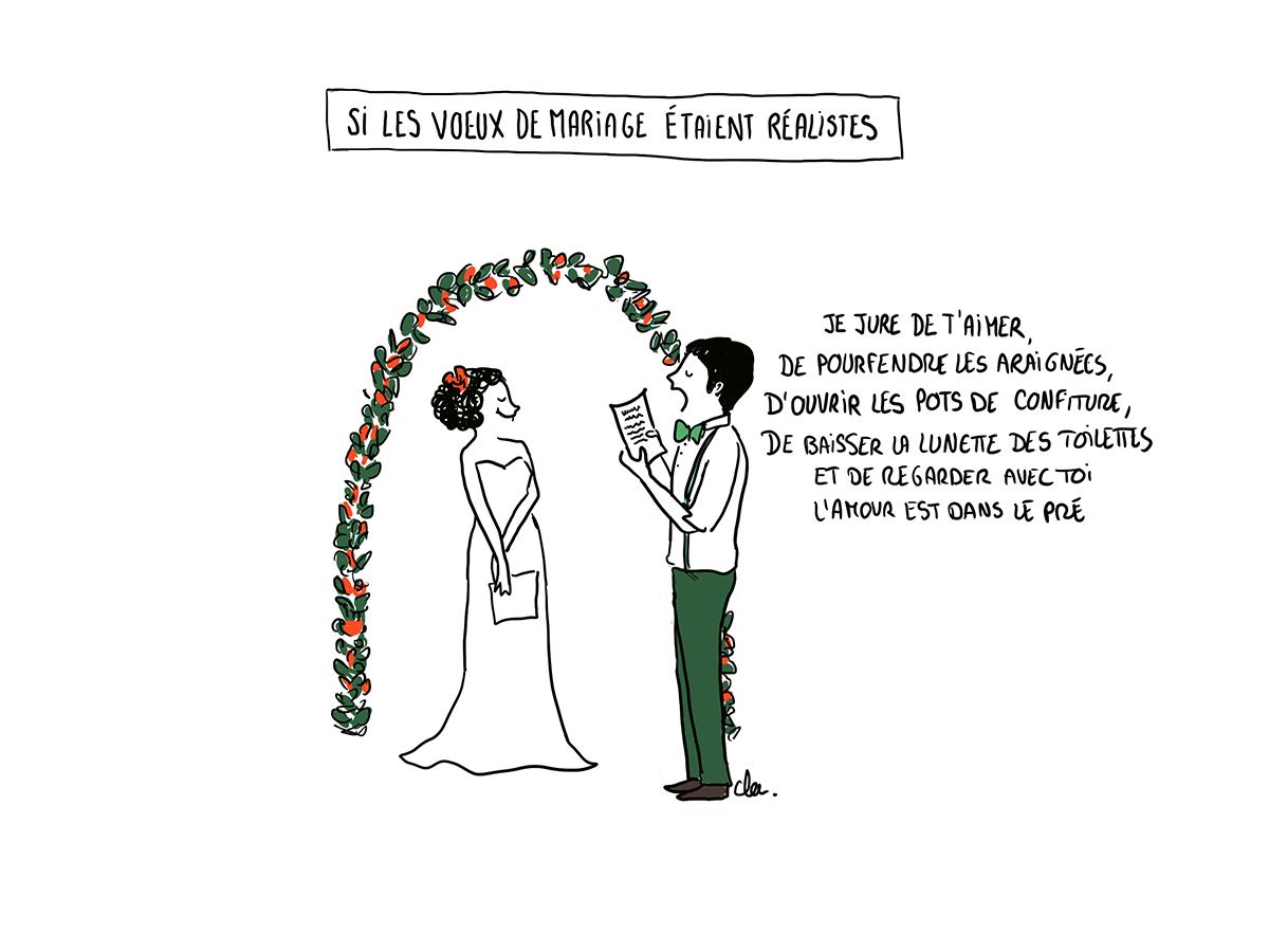 Si Les Voeux De Mariage étaient Réalistes Illustration