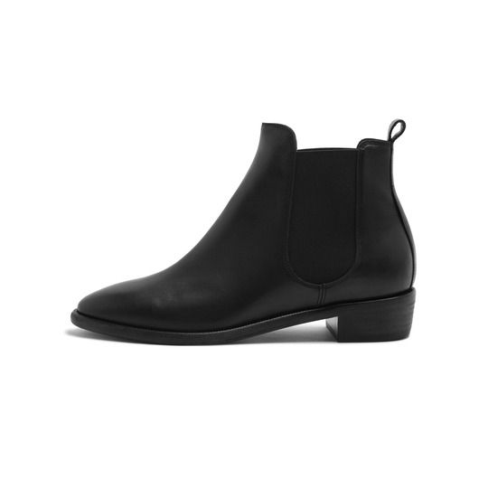 Maggie Chelsea Boot  Black Burnished Leather £390