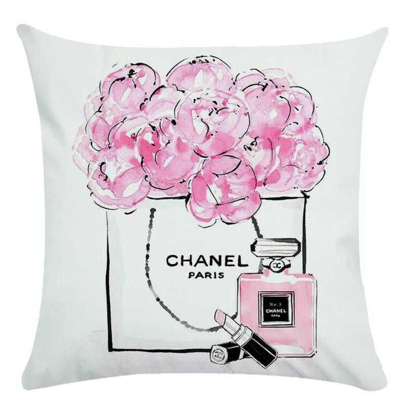 45cm 45cm Hand Painted Flowers And Perfume Bottles Super Soft Cushion Cover And Sofa Pillow Case Home Decorative Pillow Cover Perfume Kerrie Hess Art