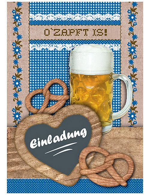 hüttengaudi klappkarte motiv: einladung | oktoberfest | pinterest, Einladung