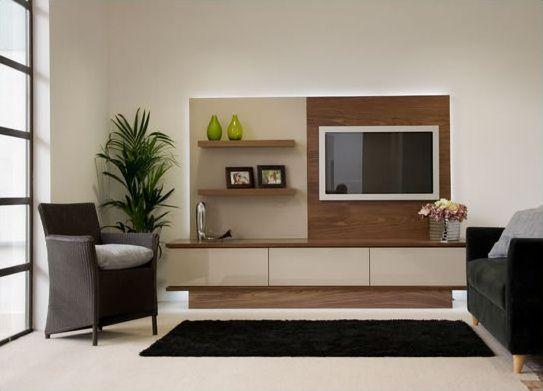 Modern Bespoke Tv Furniture Arrangement In Walnut And High Gloss Amusing Living Room Tv Cabinet Designs Design Inspiration