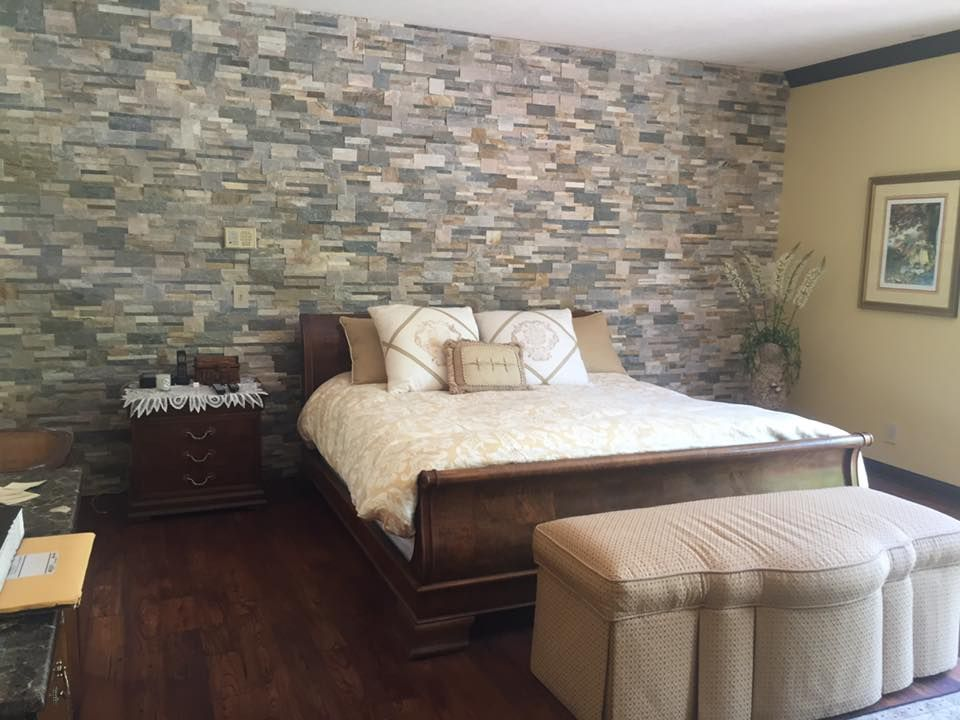 White Accent Wall Bedroom