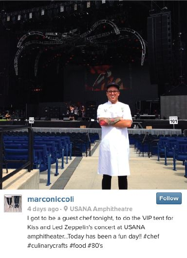 Friday Instagram of the Week is here with a rock n' roll pic from our Executive Head Chef, Marco Niccoli - who was the guest chef at the VIP tent for KISS and Def Leppard this week! http://www.culinarycrafts.com/?p=9199