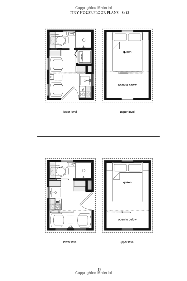 Tiny House Floor Plans Over 200 Interior Designs For Tiny Houses Volume 1 Michael Janzen 9781470 Tiny House Floor Plans House Floor Plans Tiny House Plans