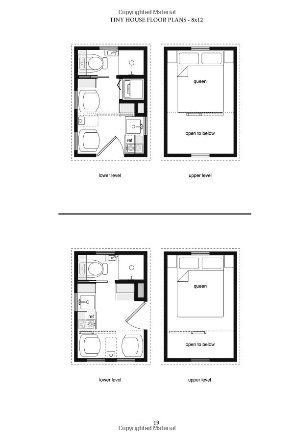 Tiny House Floor Plans Over 200 Interior Designs For Tiny Houses Volume 1 Michael Janzen 978147010 Tiny House Floor Plans Tiny House Loft Tiny House Plans